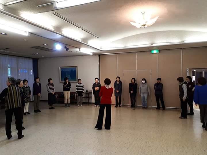 9月の商工会ブロック大会でお披露目の「東京五輪音頭2020」の踊りをしました💗