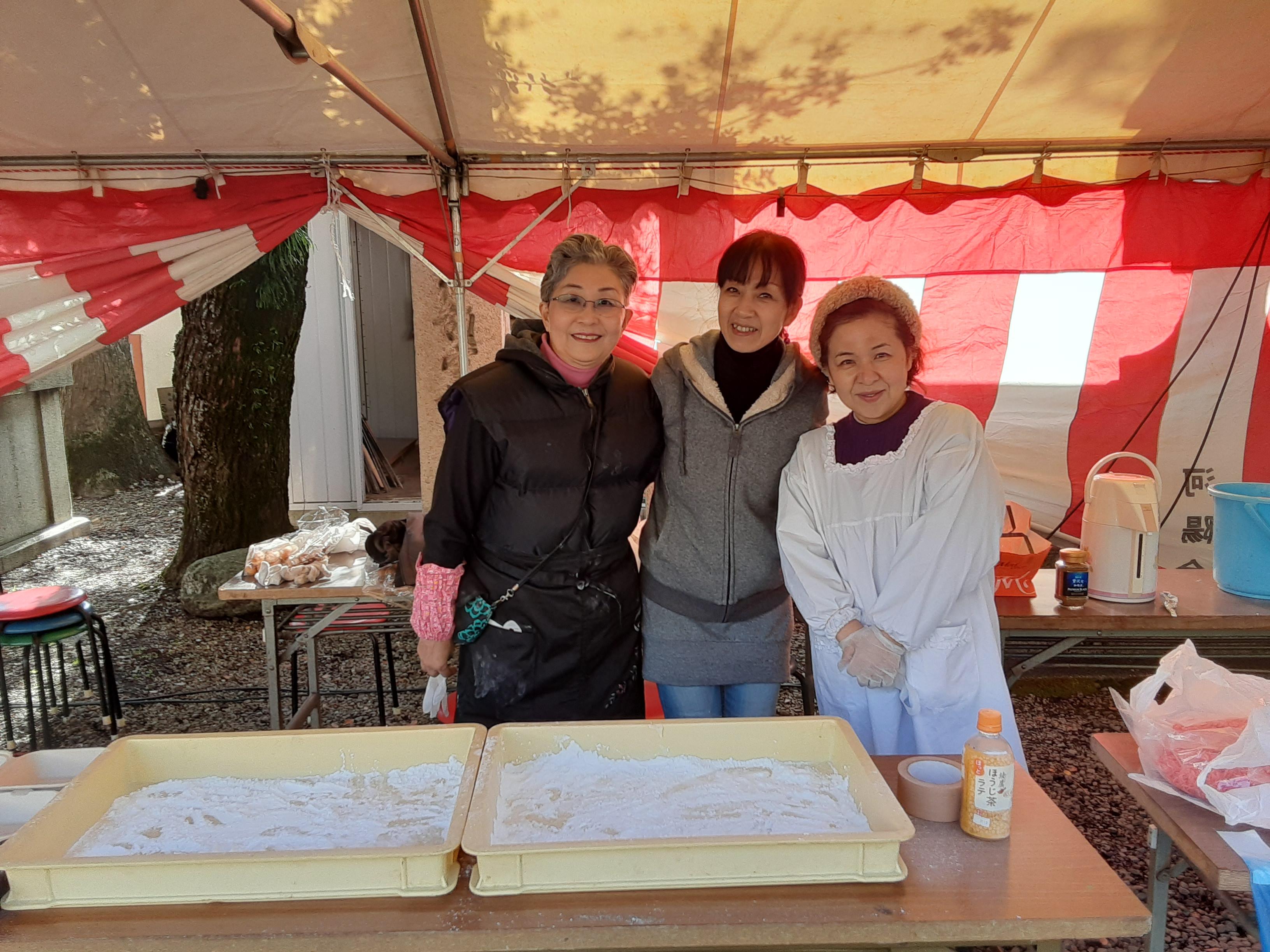 師走の恒例行事、大山崎町商工会青年部の「餅つき会」に参加しました💪😊💪