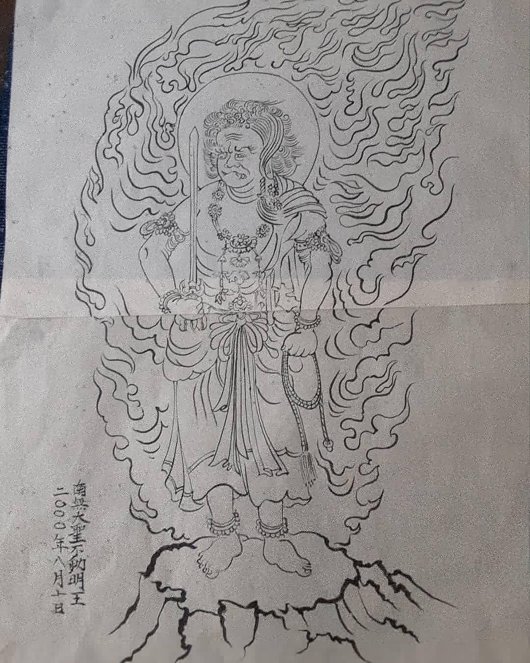 森本登さんがFBを初めました❗ご紹介を兼ねて20年前に描いていた仏画を見て下さい🍀