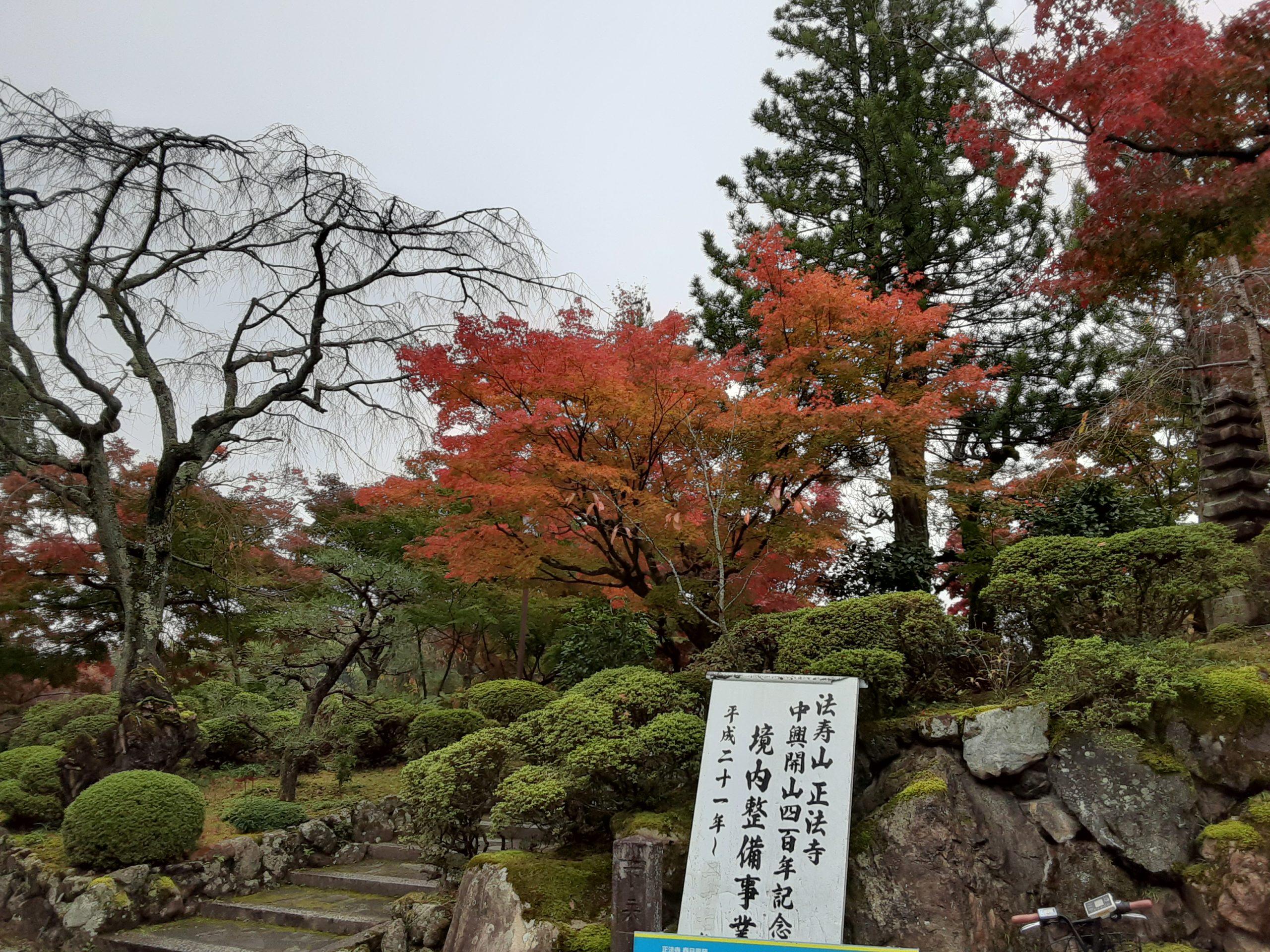 月初めの『写経』は正法寺の紅葉🍁に囲まれて気持ちの良い時間でした🍀❇️🍀