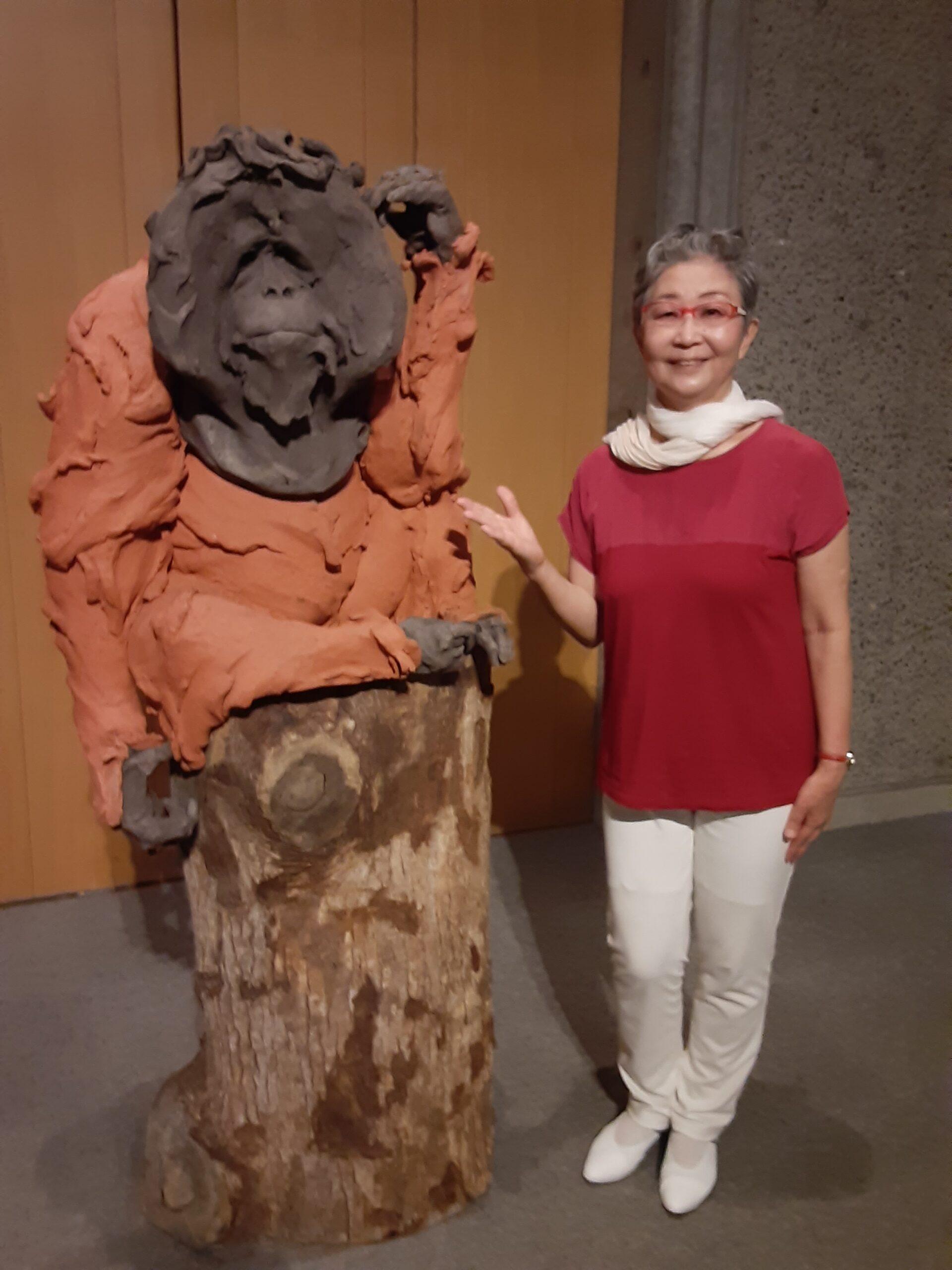 滋賀県立陶芸の森陶芸館にいき物言わぬ動物達とお友達になりました🐼🐵🐒🐴🐾